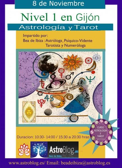 Curso de Astrologia y Tarot 8 de Noviembre en Gijon.www.astroblog.es